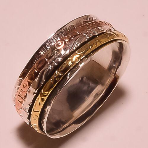 925 Sterling Silver Spinner Ring Meditation Ring Worry Ring Fidget Ring RA289