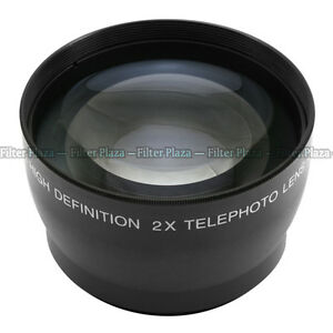 58mm 2.0X Magnification Telephoto Tele Converter Lens for Digital Camera 2X 58
