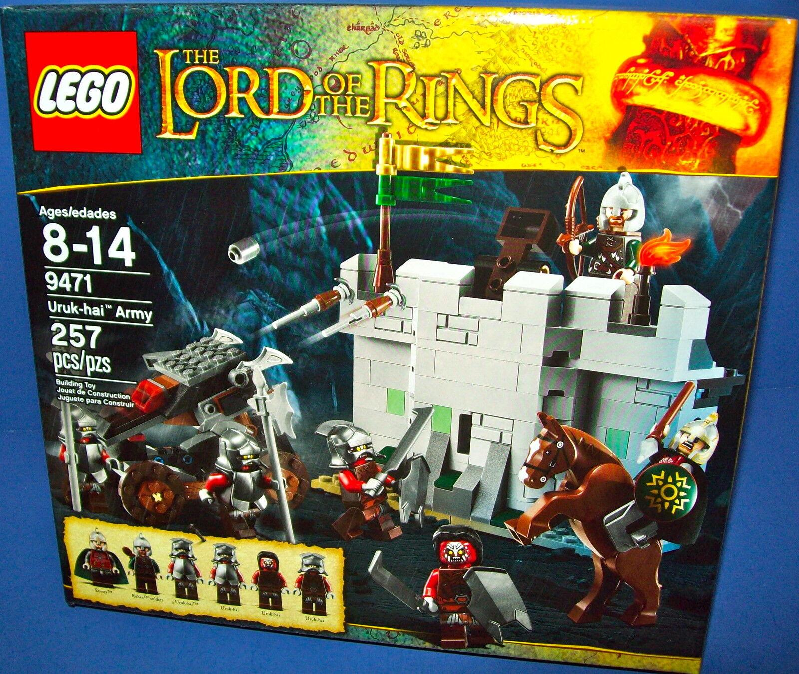 LEGO 9471  Uruk-Hai army Lord of the sacues neuf en boîte scellée retraité  première réponse
