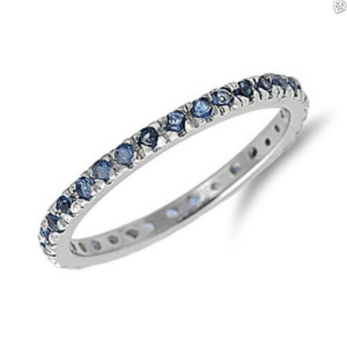 CZ Thin Band Ring Sterling Silver 925 Best Price Jewelry Selectable Sapphire CZ