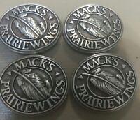 Lot Of 4 Mack's Prairie Wings Conchos With Screws