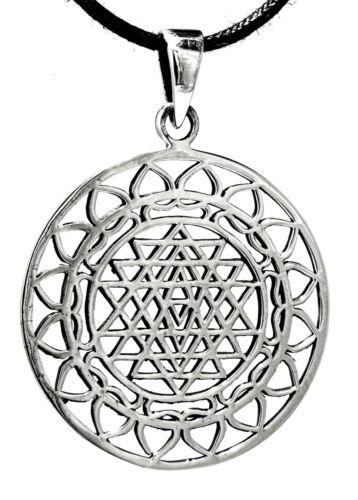 KA 346 Pentagramm 925/'er Silber Anhänger Geschenkbox Band Gothic etNox