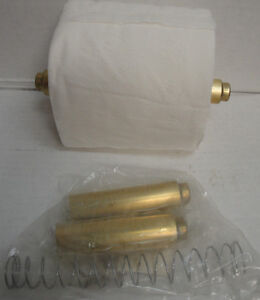 2 pc toilet paper roll bathroom tissue replacement holder spindle brass gold new - Toilet paper spindle ...