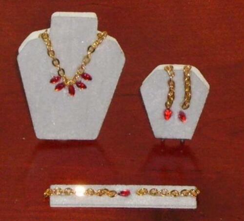 4 pzas rojo-oro miniatura-muñecas Tube//casa de muñecas #14# joyas-set escala 1:12