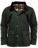 Men's Premium Countryman Diamond Quilted Wax Jacket Coat Green