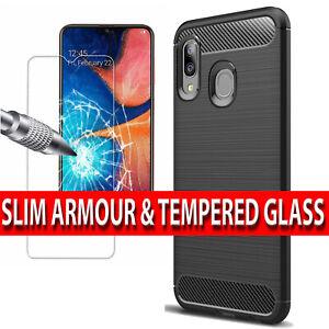 Coque-pour-Samsung-Galaxy-A20e-antichoc-Housse-en-Silicone-amp-Protection-D-039-ecran-Verre