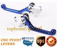 For Yamaha Yz250f 2001-2006 Clutch Brake Levers Cnc Pivot Blue Us Stock Aluminum