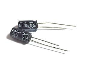100uF può alluminio eleggere 35V 35zlj100m6.3 X11-PAC RUBYCON