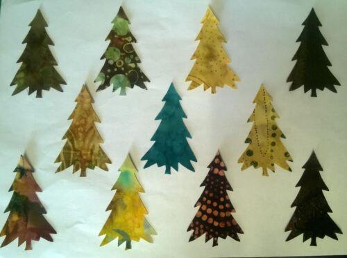 Batik Fir Trees fabric Pack remnants patchwork bundle 100/%cotton