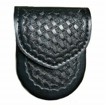 Safariland 90-4HS Handcuff Pouch w//Top Flap Basketweave Hidden Snaps
