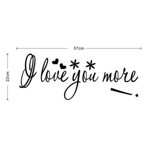 I Love You More Decal Wall Quote Love Wall Stickers Bedroom Vinyl Decor MP