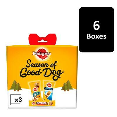 Pedigree Dog treats Christmas Party Gift Box 6 x 247g Dog Xmas Gift Boxes