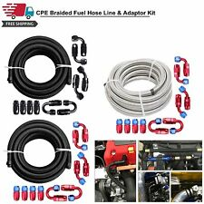 20ft Braided Fuel Hose Line With Swivel Hose End Fitting Kit 4an6an8an10an12an