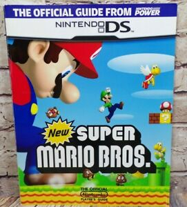 New-Super-Mario-Bros-brothers-Official-Player-039-s-Guide-Covers-Nintendo-DS-Game