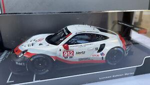 PORSCHE 911 GT3 RSR model race car 24hr Daytona 2018 Bruni 1:18th IXO LEGT18002