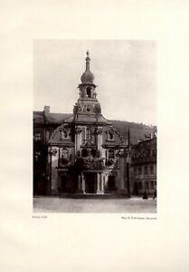 Mairie Kulmbach Fotoabbildung 1926 De Fritz Limmer-afficher Le Titre D'origine V5ywtiiv-10113806-872893032