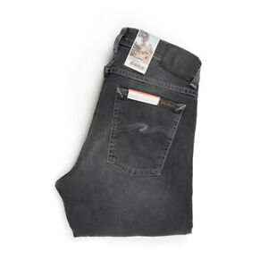 Nudie-Jeans-Tilted-Gol-Shimmering-Gris-Gris-112873-Slim-Fit-Denim-Nuevo