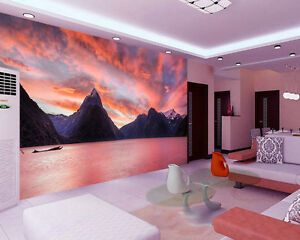 Image is loading milford sound new zealand lake full wall mural
