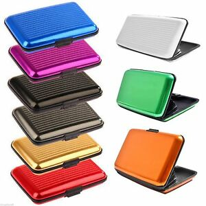 Aluminium wallet metal credit card holder business card case image is loading aluminium wallet metal credit card holder business card reheart Gallery