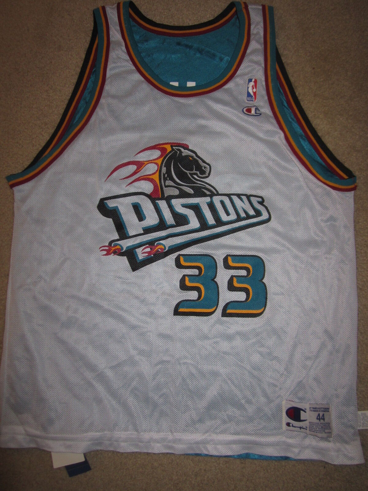 Grant Hill    33 Detroit Pistons NBA Champion Reverse Jersey 44 Lg Neu 879bc7