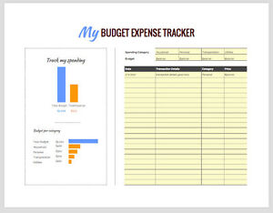 image is loading monthly budget tracker google spreadsheet expense budget tracker