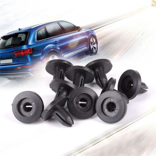 50Pcs Plastic Car Bumper Fender Hole Black Rivets Fasteners Clip 6mm For Toyota