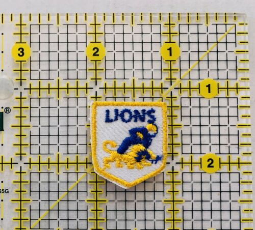 Vintage Detroit Lions Patch Sew On Football Sports Grid Iron