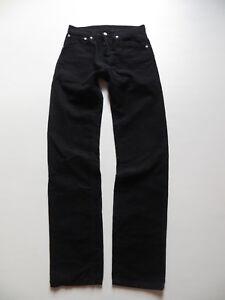 Levi-039-s-551-Cord-Jeans-Hose-W-28-L-34-Schwarz-Cordhose-mit-Knopfleiste-RAR