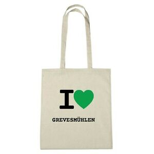 Love I Grevesmühlen Sac Couleur Eco Naturel Jute Environment SEHpnp