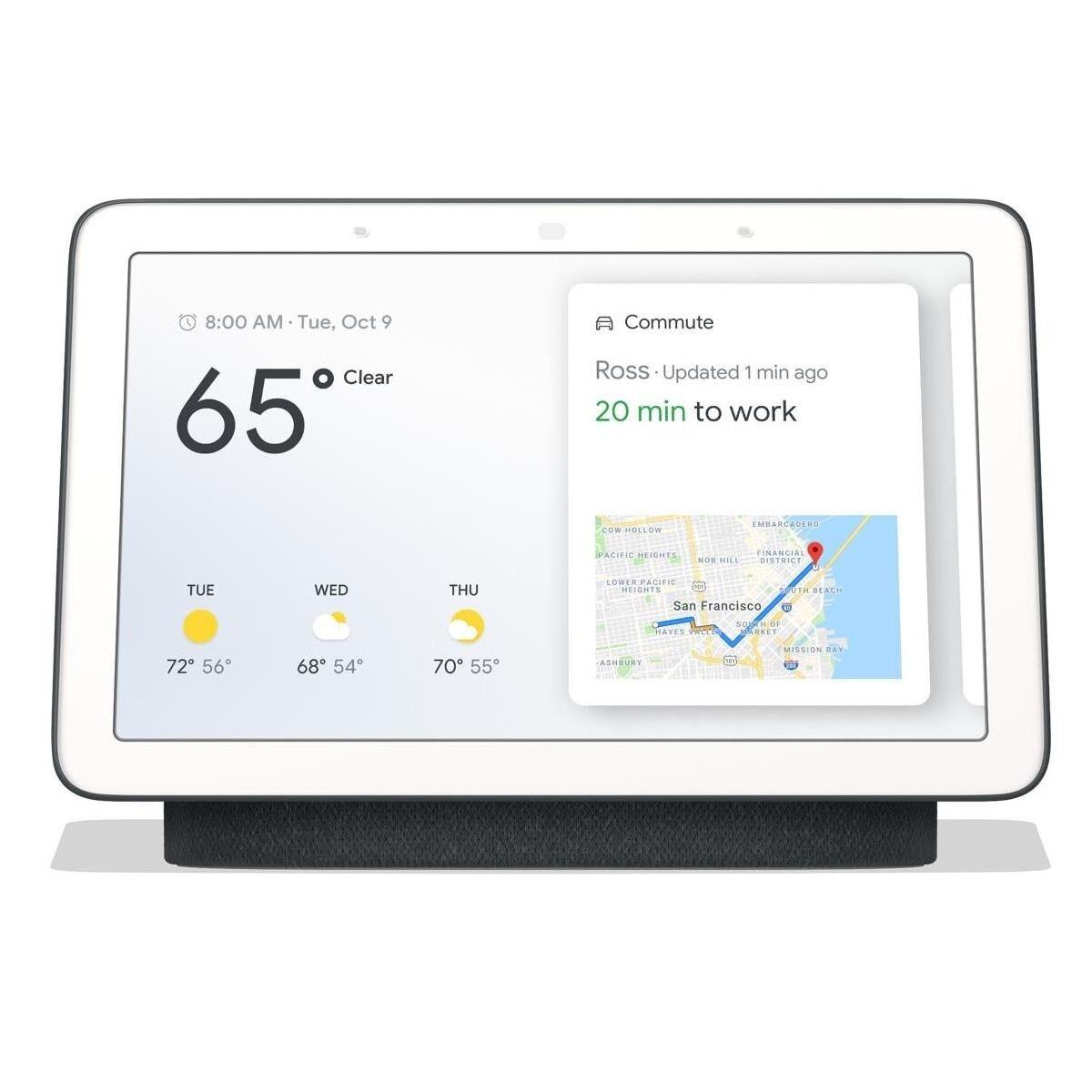 Google Home Hub   Google Nest Hub with Google Assistant - Charcoal