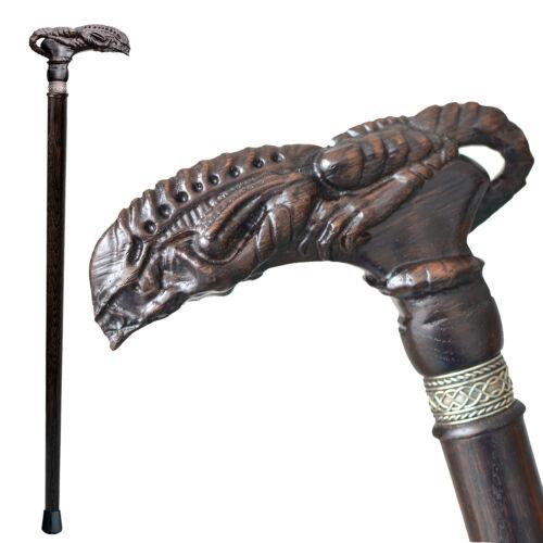 Custom Alien Xenomorph Wooden Walking Cane for Men Women Handmade Men/'s Canes