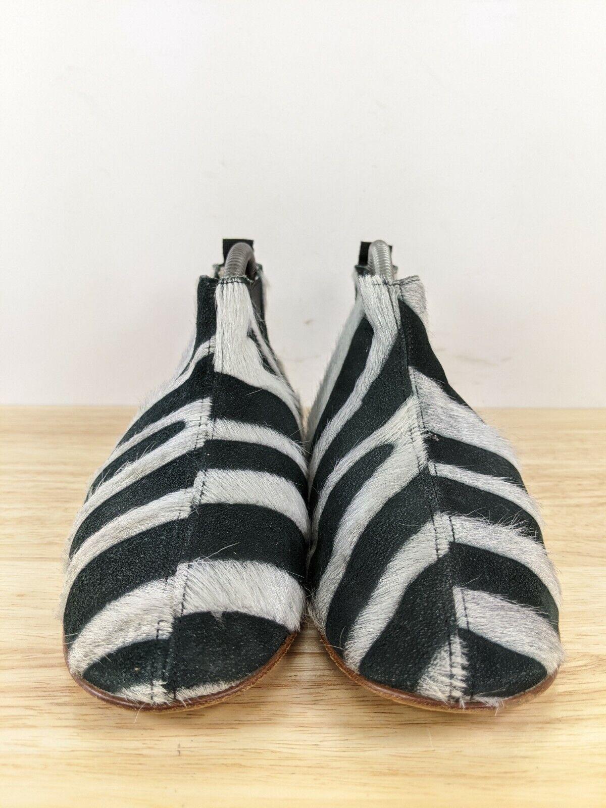 Collection Privee Black Zebra Pony Hair Chelsea B… - image 4