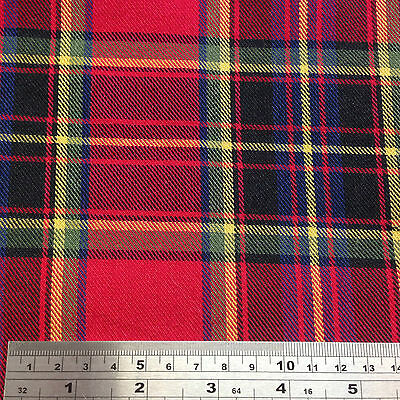 32 Tartan Fabrics Stewart Blackwatch Gordon Thompson Contemp etc Fat 1/4 - Meter
