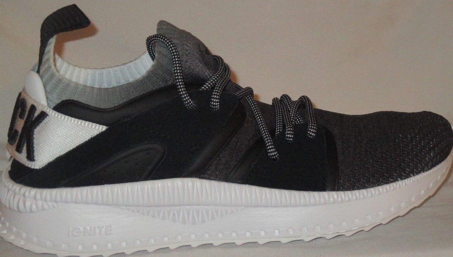 Hombres PUMA TSUGI BLAZE EVOKNIT BLK SCL negro blancoo RUNNING zapatos Talla 9.5