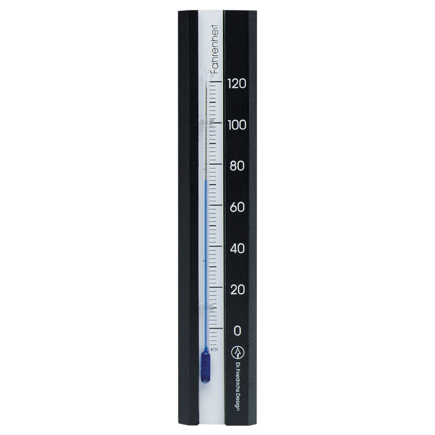 Analog Wooden Wall Thermometer Black Finish with White Scale 7.12 inch tall
