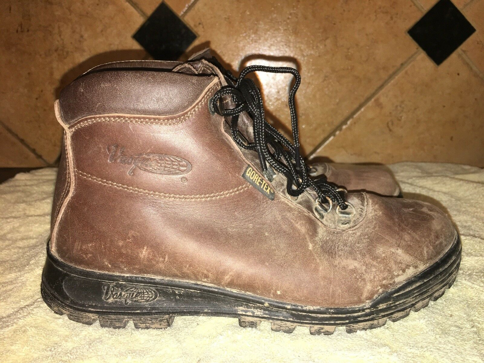 Vasque Brown Leather Hiking Trail  Boots Sz 40.5 EU  official website