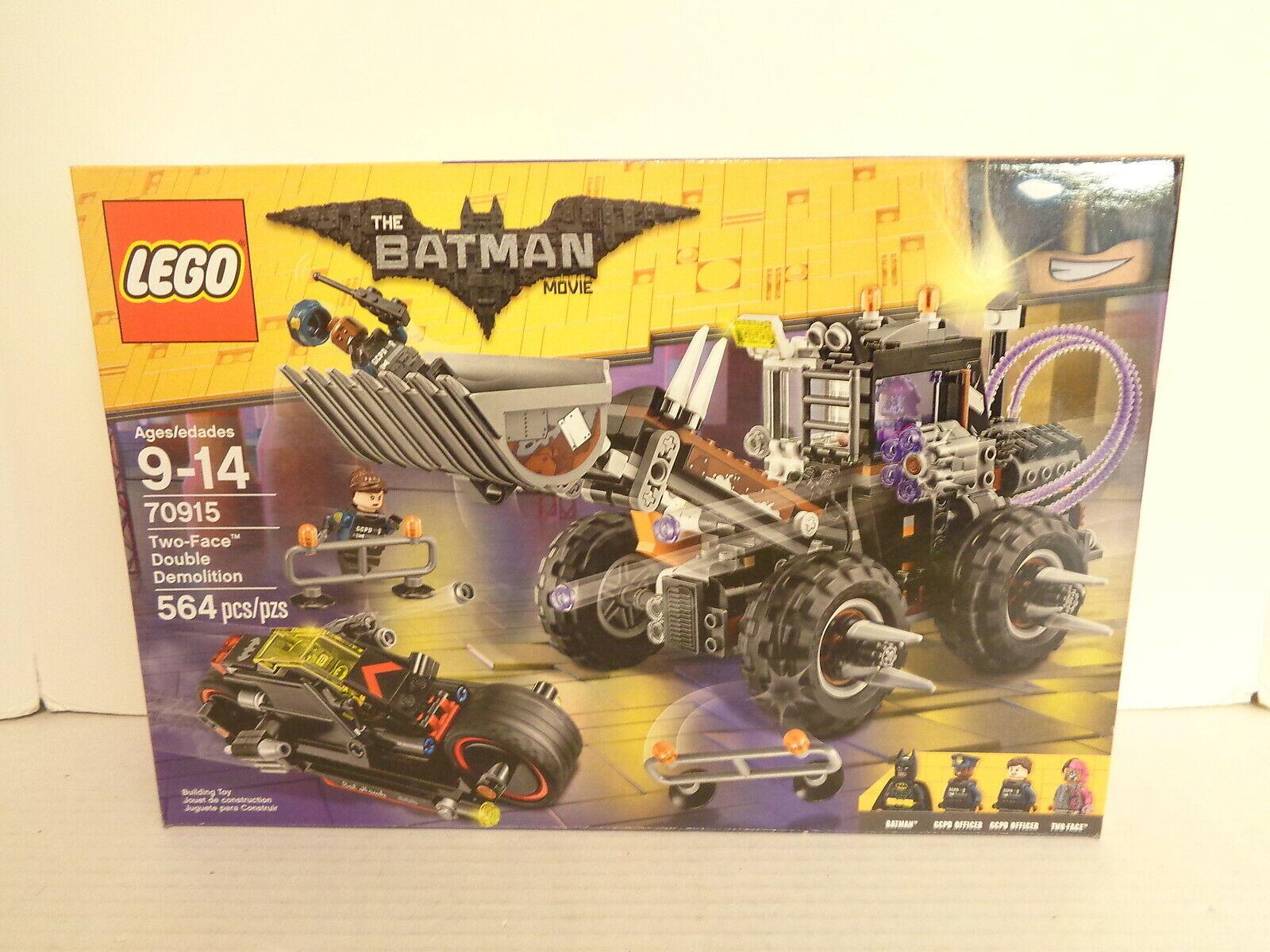 2017 The Lego Batuomo Movie   70915 Two-Face doppio Demolition costruzione Set MIP  in vendita