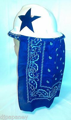 Hard Hat Neck Shade Sun Protector Royal Blue Bandana