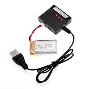 3-X-BATTERIE-CARICATORE-USB-QUADRICOTTERO-DRONE-SYMA-X5C-X5CSW-3-7V-600mAh