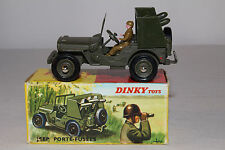 1960's French Dinky #828 Rocket Carrier Jeep, Nice with Original Box, Lot #10