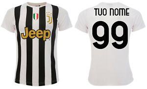 Dettagli su Maglia Juventus Personalizzata 2021 Juve ufficiale Home tuo nome e numero 2020