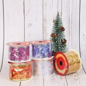 Wired-Rose-Gold-Ribbon-Metallic-Lame-Mesh-Wedding-Christmas-Floral-Ribbon-Chic