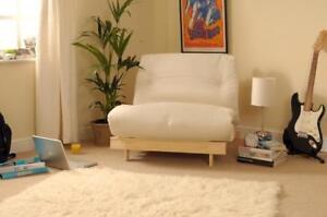 Luxury Futon Wooden Frame Sofa Bed