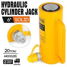 Vevor 20 Tons 6 Stroke Single Acting Hydraulic Cylinder 10000psi Jack Ram