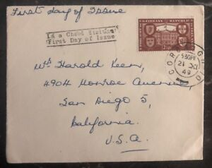 1949-Cork-Ireland-First-Day-Cover-FDC-To-San-Diego-Ca-USA-2-1-2p