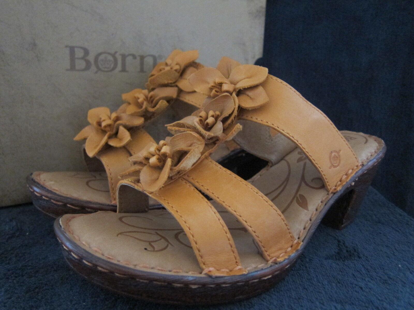 BORN Zenia Slide arancia Open Toe Platform Platform Platform Sandals Heels scarpe US 9 EUR 40.5 NWB 3eea8b