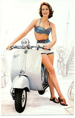 VESPA POSTER, Scooter, 60's, mod, The Who.