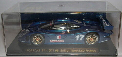 FLY E74 SLOT CAR PORSCHE GT1 98  17 BLEU EDITION SPECIALE FRANCE MB