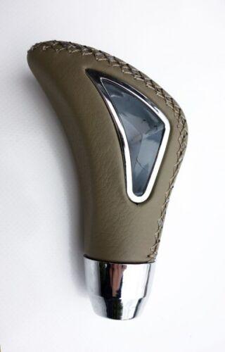 Für Nissan Uni Schaltknauf Leder Alu Braun Knauf Gear Shift Knob Schaltsack