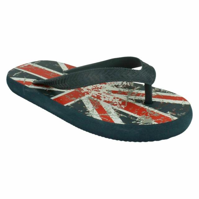 Childrens Union Jack Flip Flops N0R022